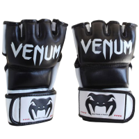 "Venum ""Undisputed"" MMA Gloves – Black – Nappa Leather"