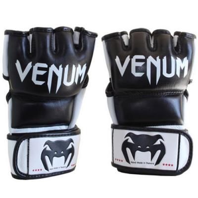 "Venum ""Undisputed"" MMA Gloves – Black – Nappa Leather"