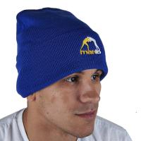 Шапка Manto с подворотом (синяя)