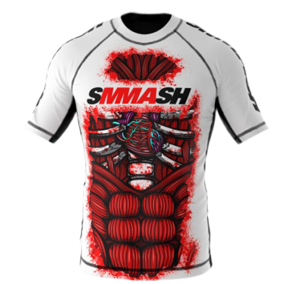 Рашгард Smmash Blood White 2.0 К/Р