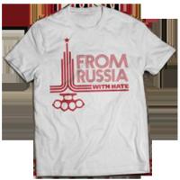 Футболка олимпийская From Russia with hate.
