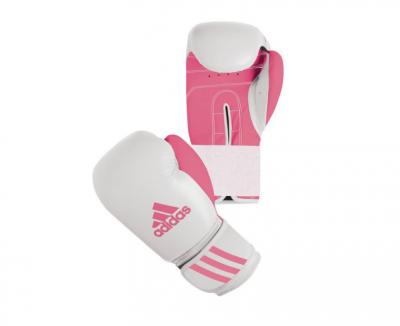 Перчатки боксерские Response бело-розовые