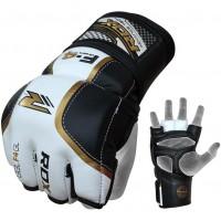 Перчатки ММА RDX Pro Golden With Black Ctrap