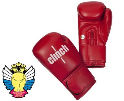 Боксерские перчатки Clinch Olimp (Красные)