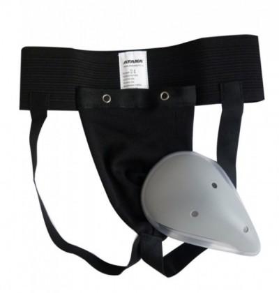 Защита паха черная с пластиковой чашкой АТАКА CLUB