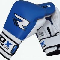 Боксерские перчатки RDX Gel Pro Blue/White
