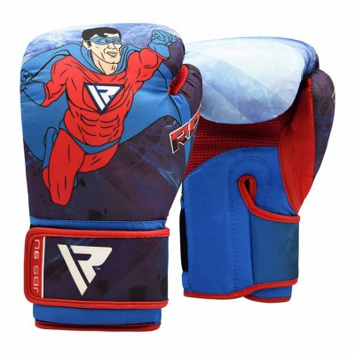 Детские боксерские перчатки RDX JBS-9 Blue