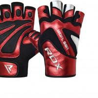 Перчатки Перчатки RDX GYM GLOVE PAPER LEATHER RED