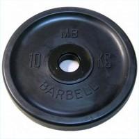 Диск Евро-Классик обрезиненный черный 10 кг.