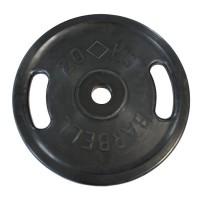 Диск Евро-Классик обрезиненный черный 20 кг. с хватами