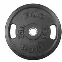 Диск Евро-Классик обрезиненный черный 25 кг. с хватами