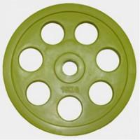Олимпийский диск евро-классик с хватом «Ромашка», 15 кг.