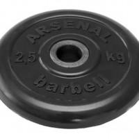 Диск обрезиненный черный 2,5 кг.