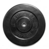 Диск обрезиненный черный 15 кг.