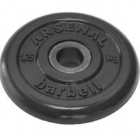 Диск обрезиненный черный 1,25 кг